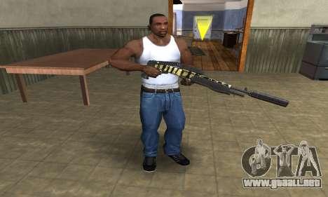 Gold Lines Combat Shotgun para GTA San Andreas tercera pantalla