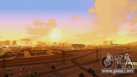 Skybox Real Stars and Clouds v2 para GTA San Andreas segunda pantalla