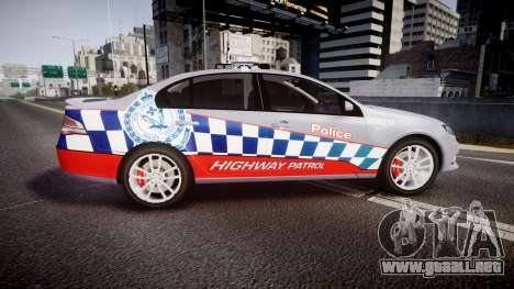 Ford Falcon FG XR6 Turbo Highway Patrol [ELS] para GTA 4 left