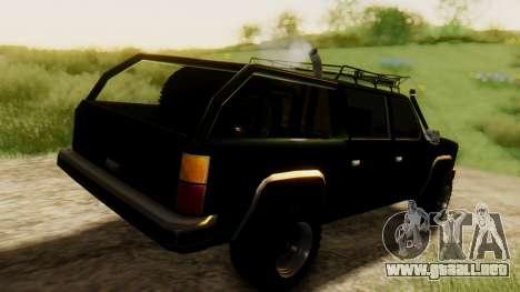 FBI Rancher Offroad para GTA San Andreas vista posterior izquierda