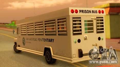 Prison Bus para GTA San Andreas left