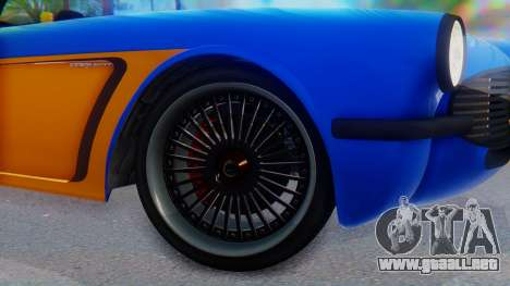 Invetero Coquette BlackFin v2 SA Plate para GTA San Andreas vista posterior izquierda