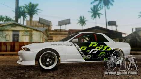 Nissan Skyline R32 Speedhunters para la visión correcta GTA San Andreas