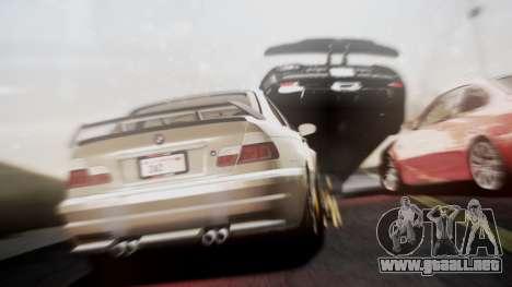 BMW M3 GTR Street Edition para GTA San Andreas vista posterior izquierda