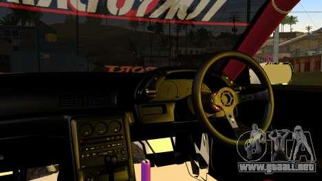 Nissan Skyline R32 Speedhunters para GTA San Andreas vista hacia atrás