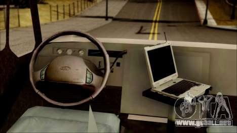 SANG Combat Rescue International para GTA San Andreas vista hacia atrás
