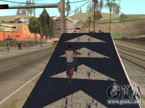 Trampolín para GTA San Andreas tercera pantalla