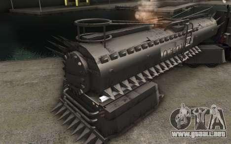 El trailer de Mad Max camión para GTA San Andreas vista posterior izquierda