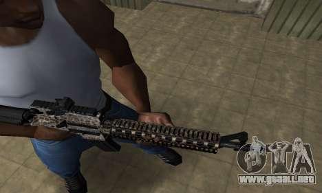 Brighty Leopard M4 para GTA San Andreas segunda pantalla