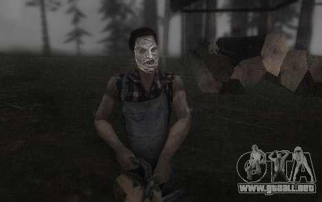 El Cuero de la máscara de la cara para GTA San Andreas segunda pantalla