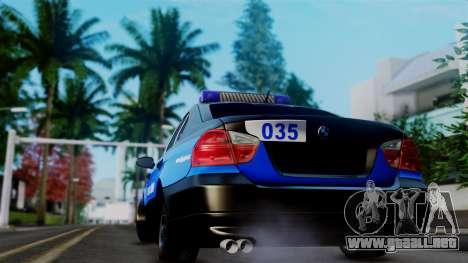 BMW 330i E46 YPX para GTA San Andreas vista hacia atrás
