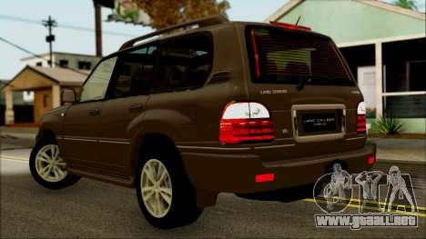 Toyota Land Cruiser Cygnus para GTA San Andreas left