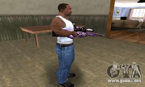 Neon Sniper Rifle para GTA San Andreas tercera pantalla