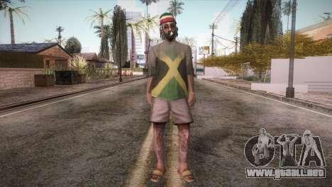 Rasta Grandpa para GTA San Andreas segunda pantalla