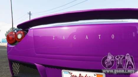 GTA 5 Grotti Carbonizzare Aston Martin Zagato V12 vista lateral trasera derecha