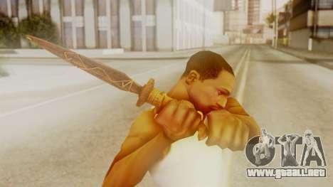 Ceremonial Dagger para GTA San Andreas tercera pantalla