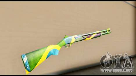 Brasileiro Shotgun para GTA San Andreas segunda pantalla