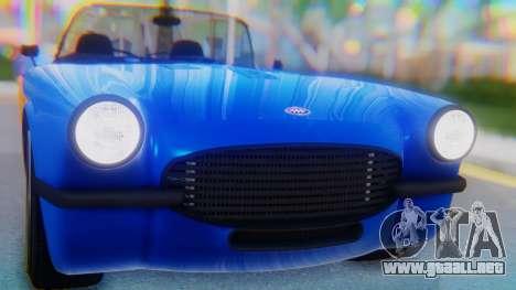 Invetero Coquette BlackFin v2 SA Plate para GTA San Andreas vista hacia atrás