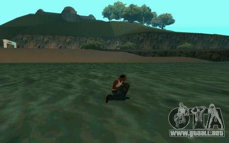 Caminando sobre el agua para GTA San Andreas tercera pantalla