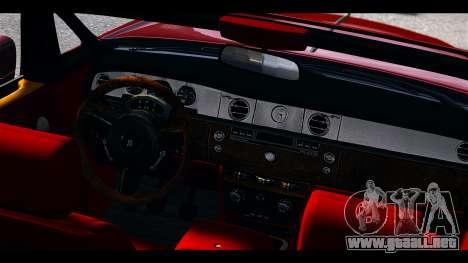 Rolls-Royce Phantom 2009 Coupe v1.0 para GTA 4 vista hacia atrás