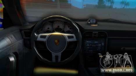 Porsche 911 2010 Cabrio para la visión correcta GTA San Andreas