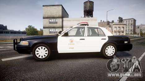 Ford Crown Victoria 2011 LAPD [ELS] rims1 para GTA 4 left