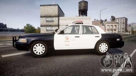 Ford Crown Victoria 2011 LAPD [ELS] rims1 para GTA 4 left