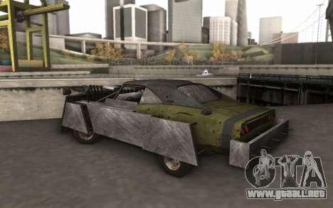 Dodge Charger Infernal Bulldozer para GTA San Andreas vista posterior izquierda