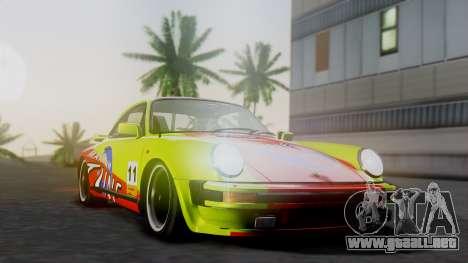 Porsche 911 Turbo (930) 1985 Kit A para GTA San Andreas vista hacia atrás