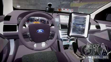 Ford Falcon FG XR6 Turbo Highway Patrol [ELS] para GTA 4 vista hacia atrás