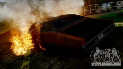 Dodge Charger Super Bee 426 Hemi (WS23) 1971 IVF para vista inferior GTA San Andreas