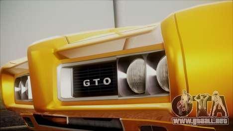 Pontiac GTO 1968 para la visión correcta GTA San Andreas