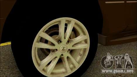 Toyota Land Cruiser Cygnus para la visión correcta GTA San Andreas