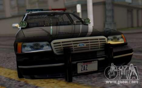Ford Crown Victoria LSPD para GTA San Andreas vista hacia atrás