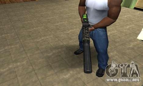 SPAS-12 Green Lines para GTA San Andreas segunda pantalla