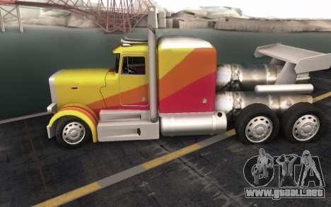 ShockWave Jet Truck para GTA San Andreas vista hacia atrás