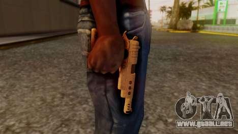 Chrome Hammer Pistol para GTA San Andreas tercera pantalla