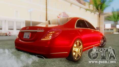 Mercedes-Benz S63 W222 AMG para GTA San Andreas left