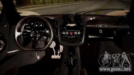 Pagani Zonda Cinque 2009 Autovista para la visión correcta GTA San Andreas
