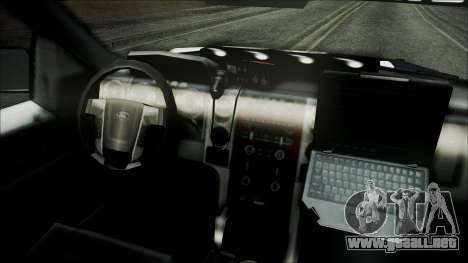 Ford Pickup Policia Federal para la visión correcta GTA San Andreas