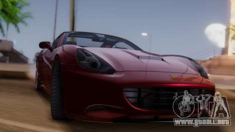 Ferrari California v2.0 para GTA San Andreas vista posterior izquierda