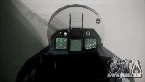 SU-47 Berkut Grabacr Ace Combat 5 para la visión correcta GTA San Andreas