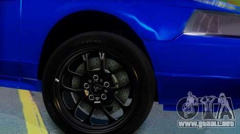 Ford Mustang 1999 Clean para GTA San Andreas vista posterior izquierda