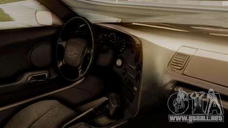 Toyota Supra Full Tuning para la visión correcta GTA San Andreas