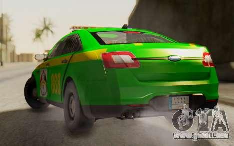 Ford Taurus Iraq Police para GTA San Andreas left