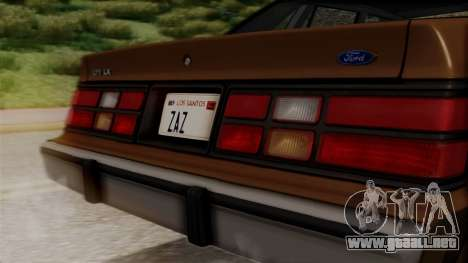 Ford LTD LX 1986 para GTA San Andreas vista hacia atrás