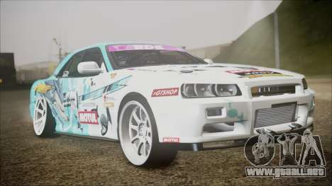 Nissan Skyline ER34 GT-Shop para GTA San Andreas left