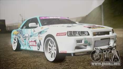 Nissan Skyline ER34 GT-Shop para GTA San Andreas left