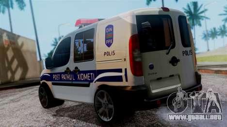 Fiat Doblo PPX para GTA San Andreas left