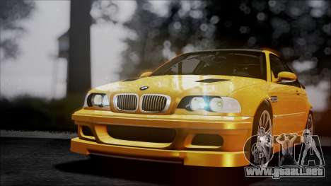 BMW M3 GTR Street Edition para GTA San Andreas interior